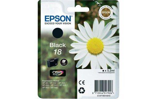 Epson Cartouche d'encre Claria Home 18 Noir pour imprimante Expression Home