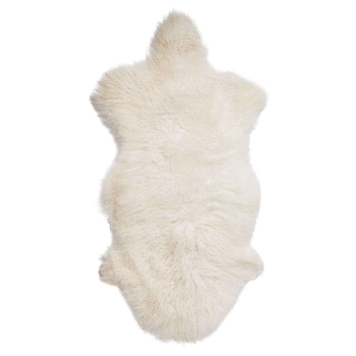 Bloomingville - Peau de mouton de Mongolie, blanc