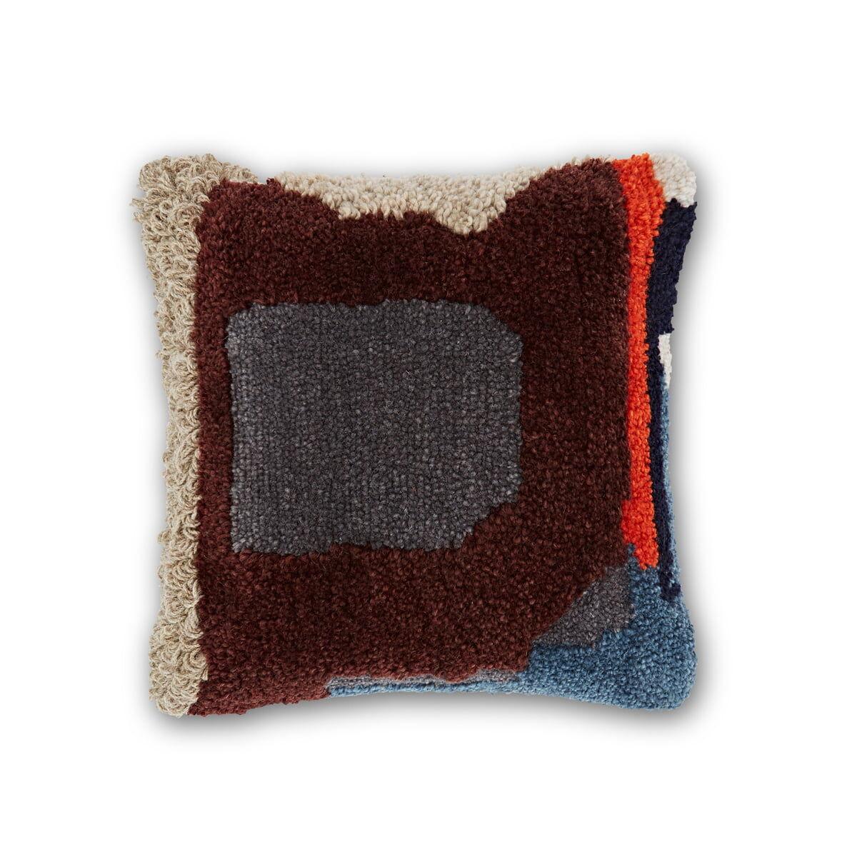 Tom Dixon - Coussin Abstract, 45 x 45 cm, wine