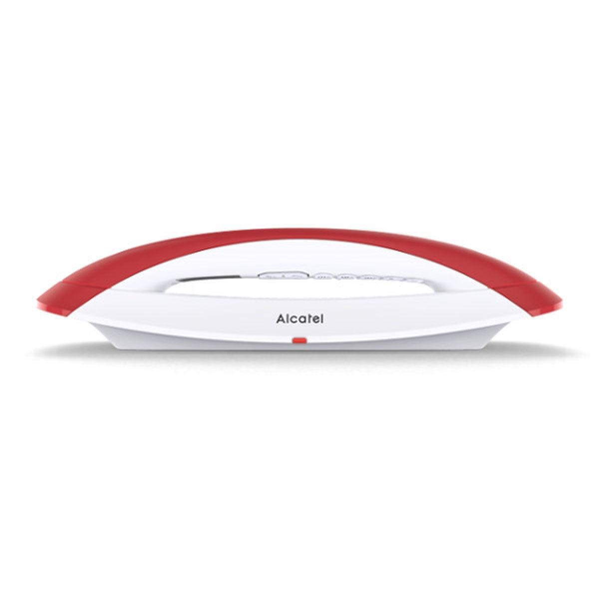 Alcatel Téléphone sans fil dect alcatel smile rouge
