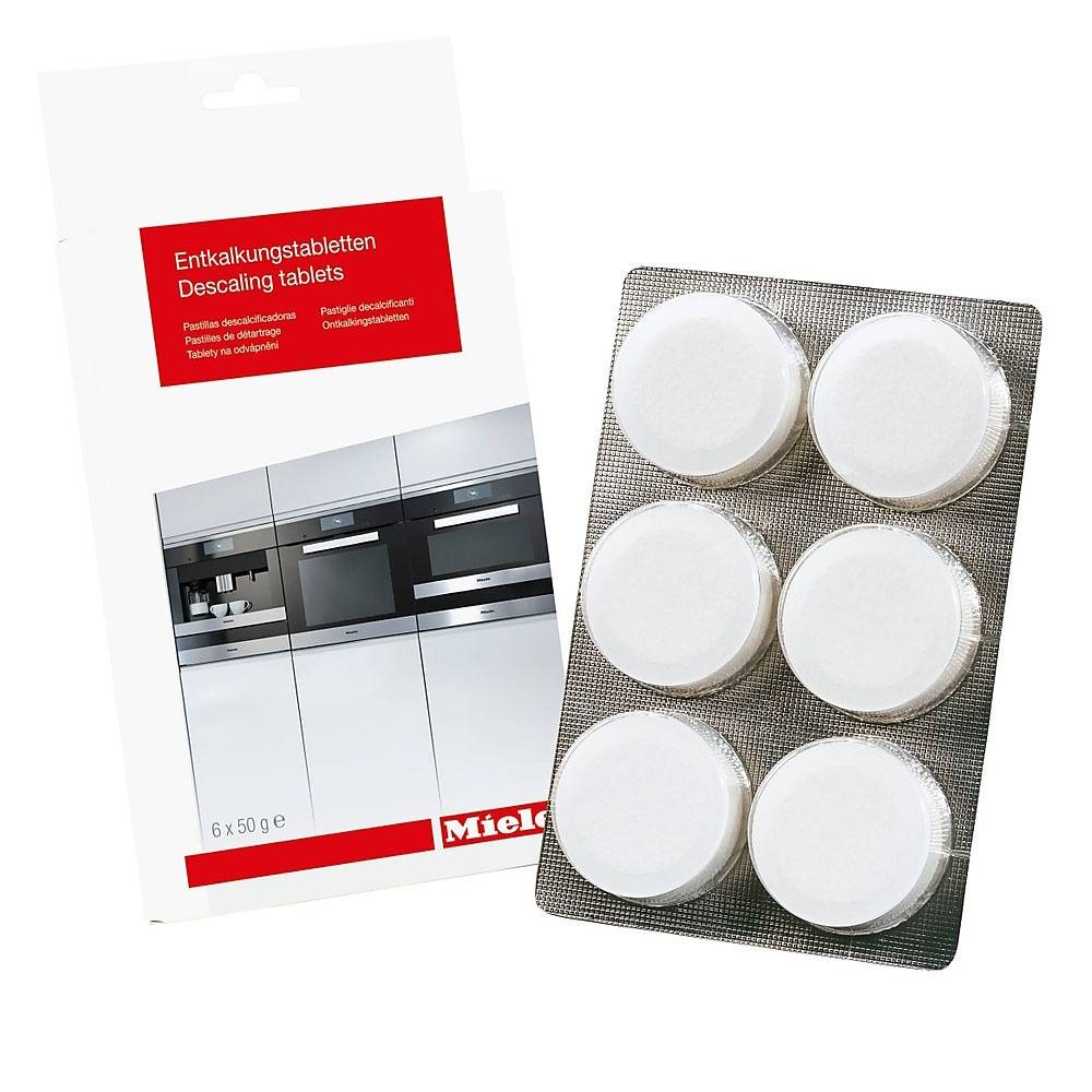 Pastilles détartrantes (6pcs) d'origine Miele pour machine à café