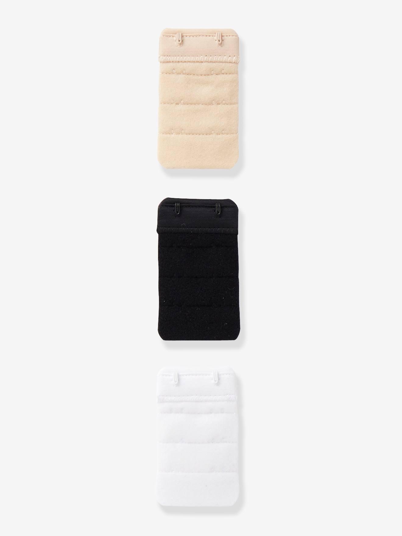 Vertbaudet 3 prolongateurs de soutien-gorge d'allaitement blanc+beige+noir