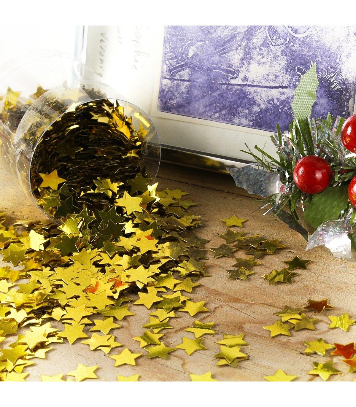 Astuceo Pot d'étoiles d'or - Lot de 2