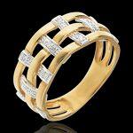 edenly  Edenly Bague couture or rose 18 carats pavée diamants - 11 diamants... par LeGuide.com Publicité