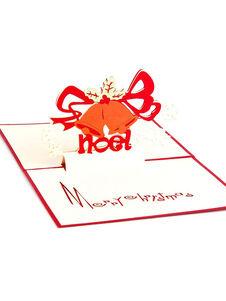 3d carte de noël cloche pop up voeux cartes de vœux cadeaux de n
