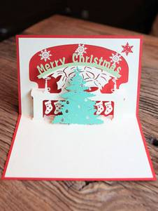 Cartes de Noël Pop Up Tree 3D Carte de voeux Noël Cadeaux Nouvel