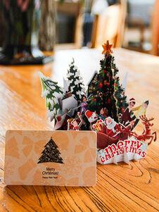 Cartes de Noël Pop Up Greeting Card 3D Noël Cadeaux Nouvel An Ha
