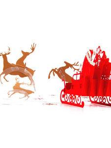 Cartes de Noël Pop Up Carte de voeux 3D Père Noël Cadeaux Noël N