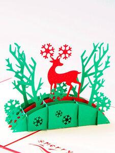 Cartes de vœux Carte de voeux Renne Pop Up 3D Cadeaux de vacance