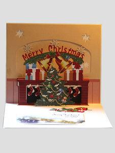 Cartes de vœux Carte de voeux Pop Up 3D Noël cadeaux de vacances
