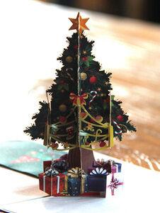 Cartes de sapin de Noël cartes de vœux Pop Up 3D Noël cadeaux de