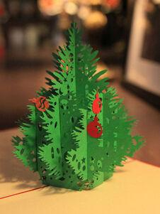 Carte de voeux sapin de Noël Pop Up 3D Noël cadeaux de vacances