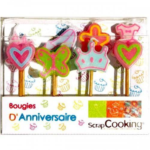 ScrapCooking 8 Bougies d'anniversaire Princesse