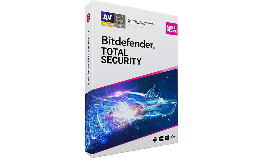 Logiciel Bitdefender pour PC : Total Security - 3 appareils 18 mois (95735763)