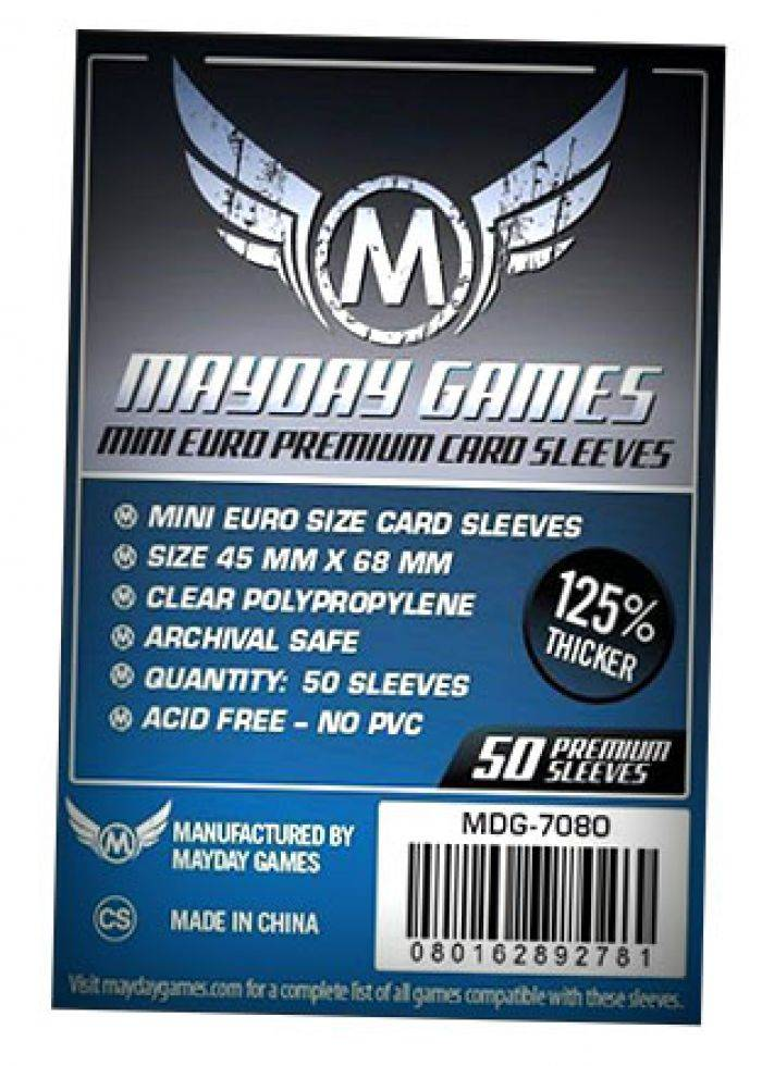 Pixie Games 45x68mm Mini Euro Premium - Sleeves Mayday