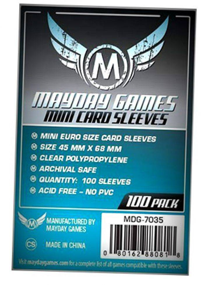 Pixie Games 45x68mm Mini Euro Standard - Sleeves Mayday