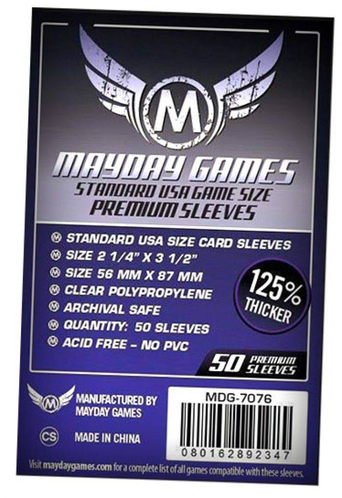 Pixie Games 56x87mm USA Premium - Sleeves Mayday