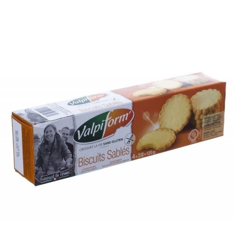 Valpi biscuit sable s/gluten 120g 4051