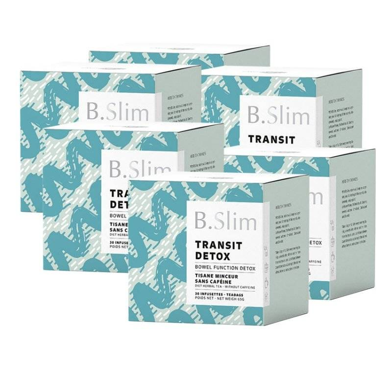 B.slim 6 boites de tisane de régime 30 infusettes