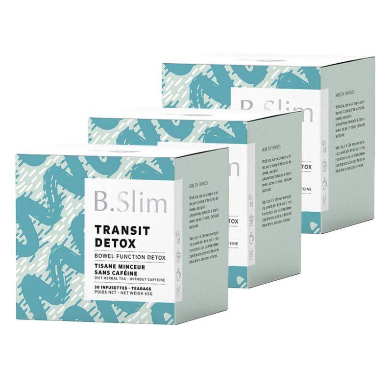 B.slim 3 boîtes de tisane de régime 30 infusettes
