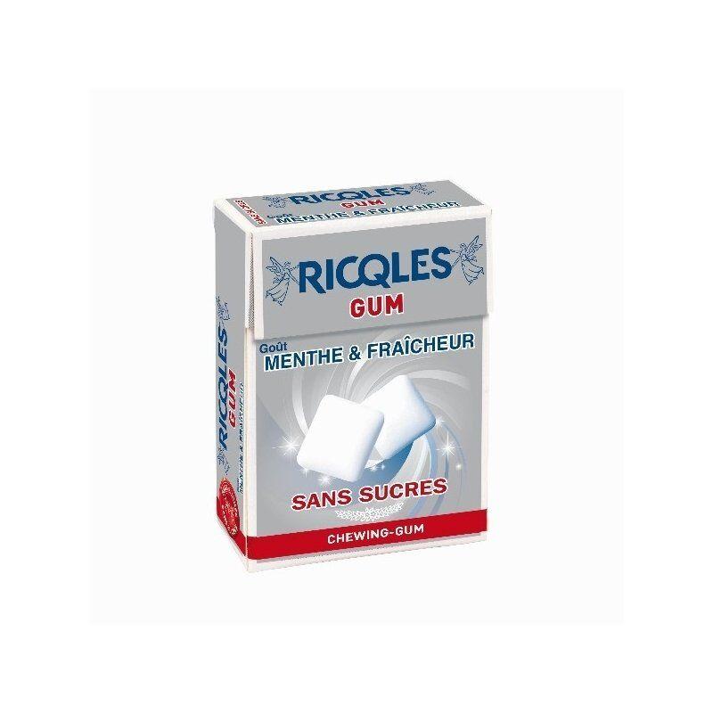 Ricqles gum chewing-gum sans sucres goût menthe & fraicheur 24g