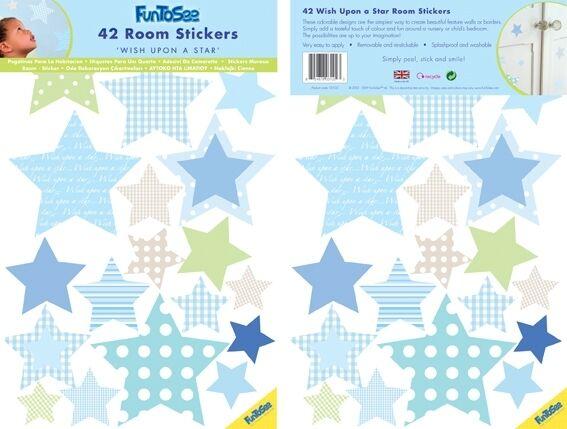 FUNTOSEE Sticker mural 42 étoiles
