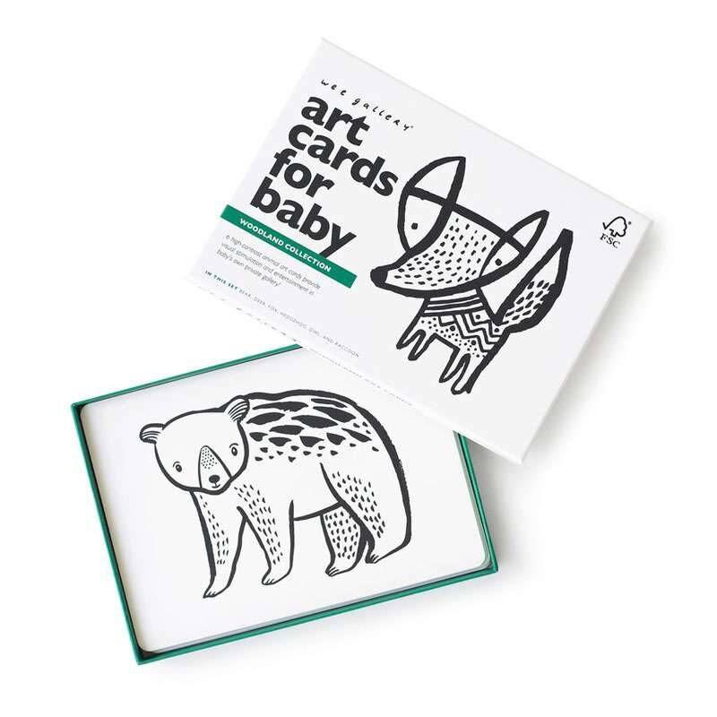 WEE GALLERY Cartes imagier animaux - Animaux de la Forêt