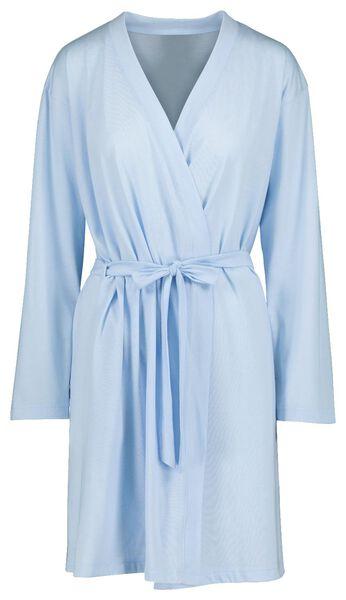HEMA Peignoir Femme Coton Bleu Clair (bleu clair)