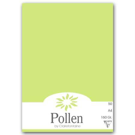 Pollen by Clairefontaine Papier Pollen A4 50 feuilles - Vert bourgeon