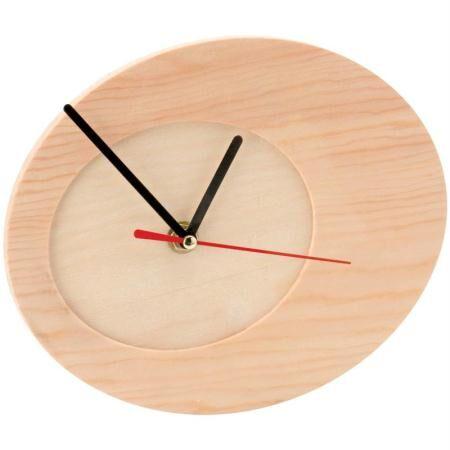 Hobby time Horloge à décorer en bois ovale 20 cm