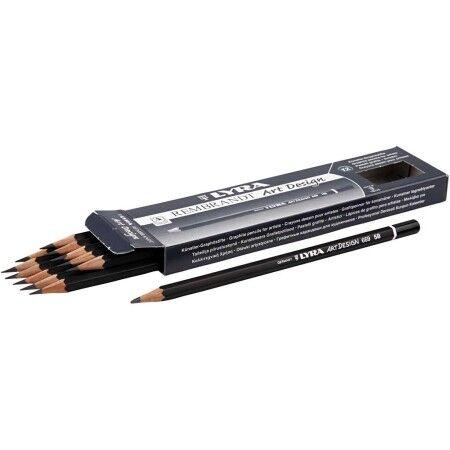 Creotime Crayons Gris Art Design, D: 6,9 Mm, Mine: 1,8 Mm, Mine 5B, 12Pièces