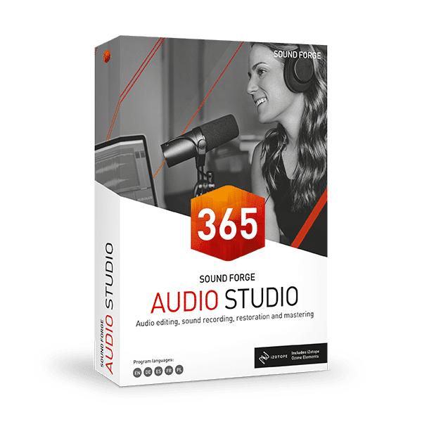 MAGIX Software SOUND FORGE Audio Studio 365