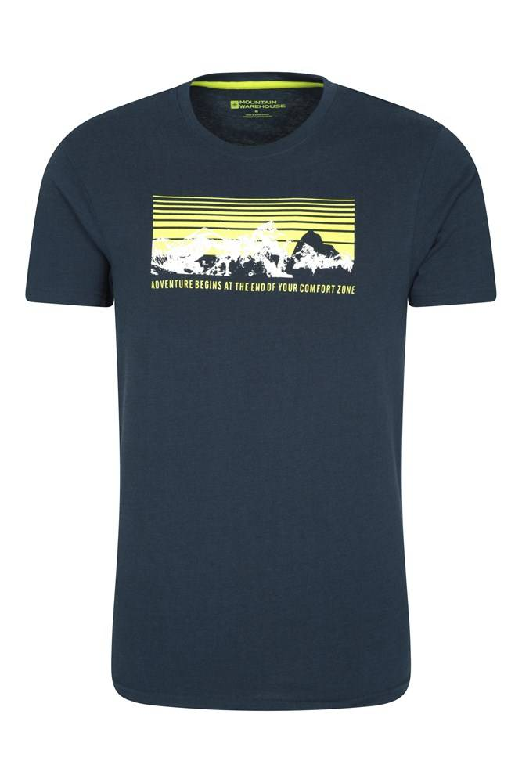 Mountain Warehouse T-Shirt Hommes Adventure Begins - Bleu Marine