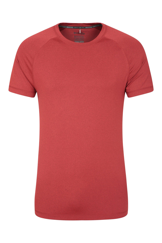 Mountain Warehouse T-Shirt Agra Melange Hommes - Rouge