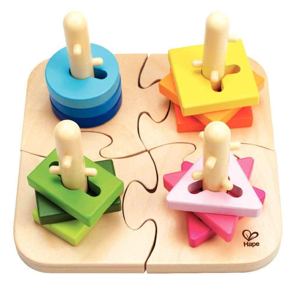 HAPE Puzzle à boutons créatif en bois