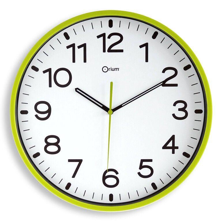 Horloge silencieuse - CEP - Vert anis - Ø30 cm