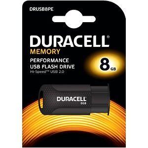 Duracell Clé USB 2.0 Duracell 8GB Flash drive (DRUSB8PE)