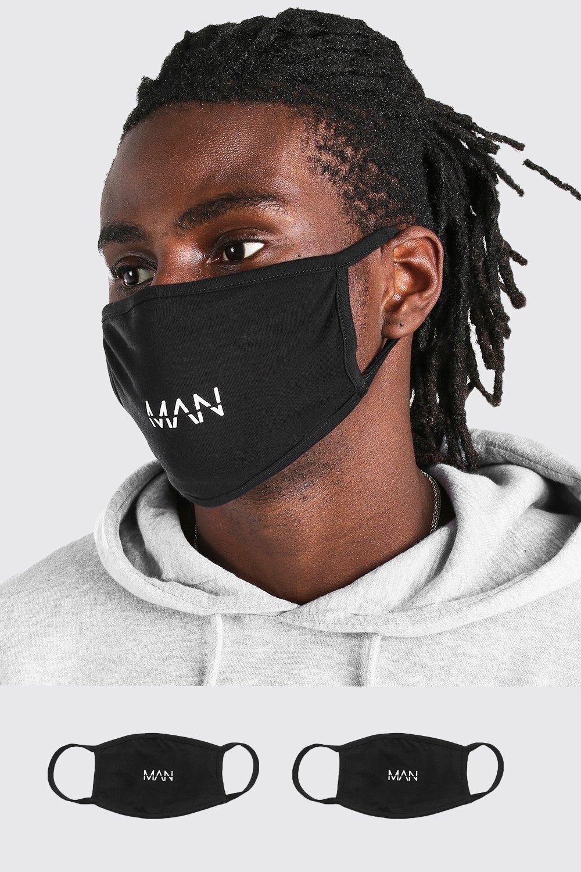 Boohooman Lot de 2masques mode MAN Dash Homme - noir - ONE SIZE, noir