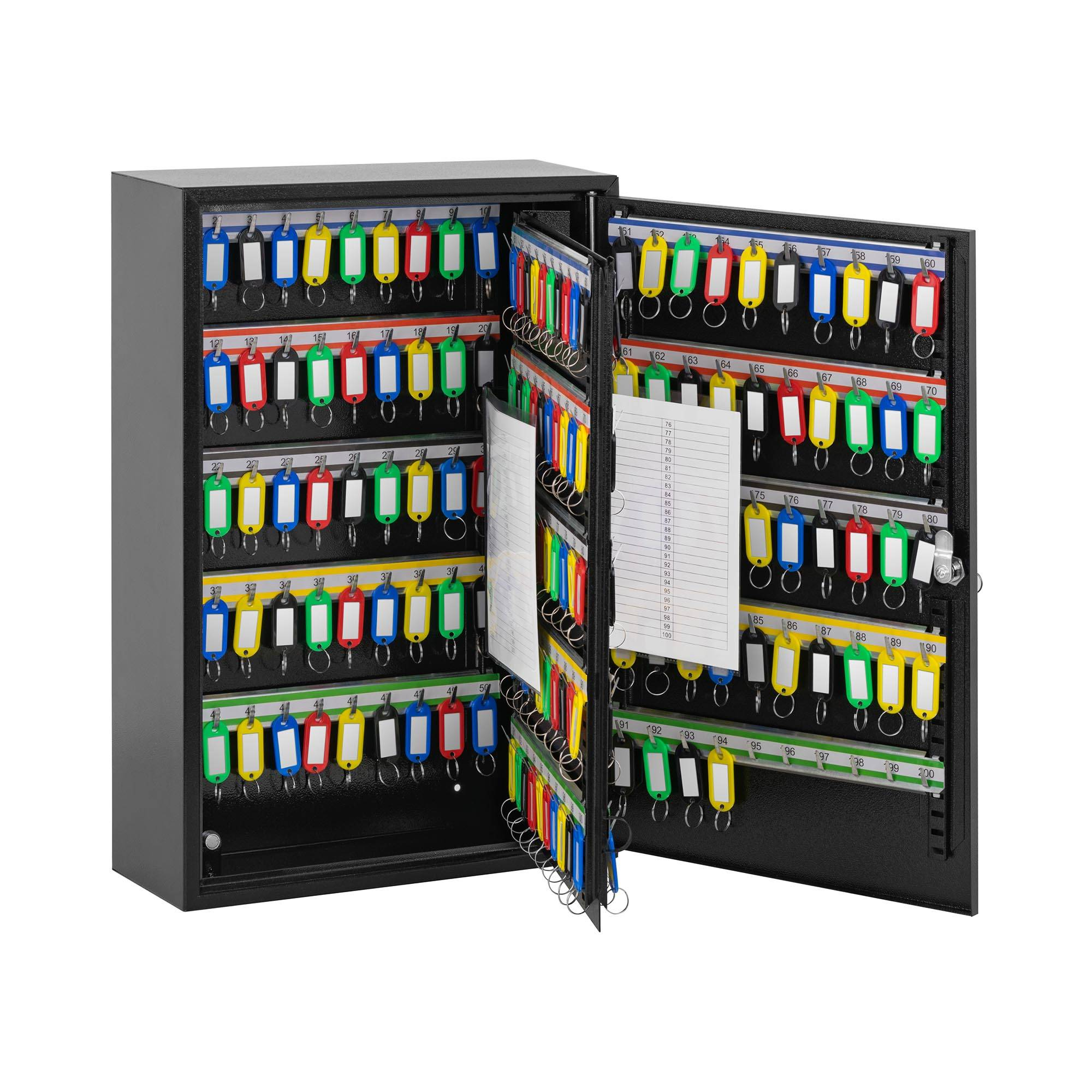 Stamony Boîte à clés - Pour 200 clés - Porte-clés compris ST-KB-200