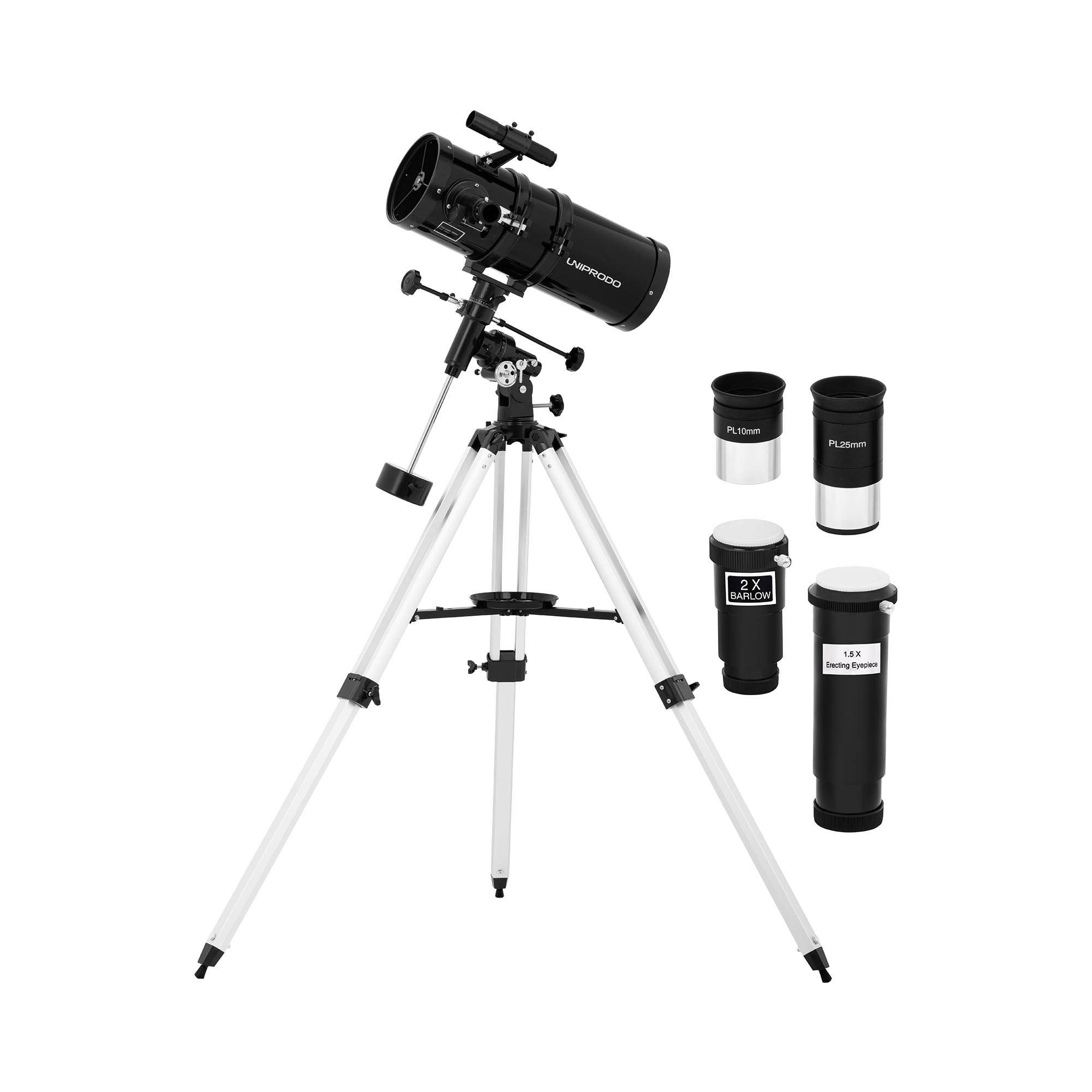 Uniprodo Télescope - Ø 150 mm - 1 400 mm - Trépied inclus UNI_TELESCOPE_11