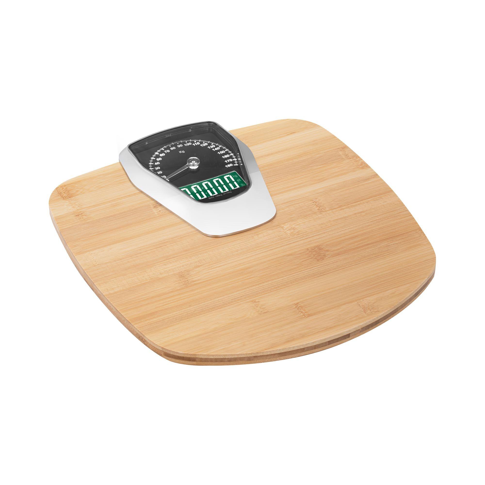 Steinberg Basic Pèse-personne électronique - Fini bambou - 180 kg SBS-PS-180A