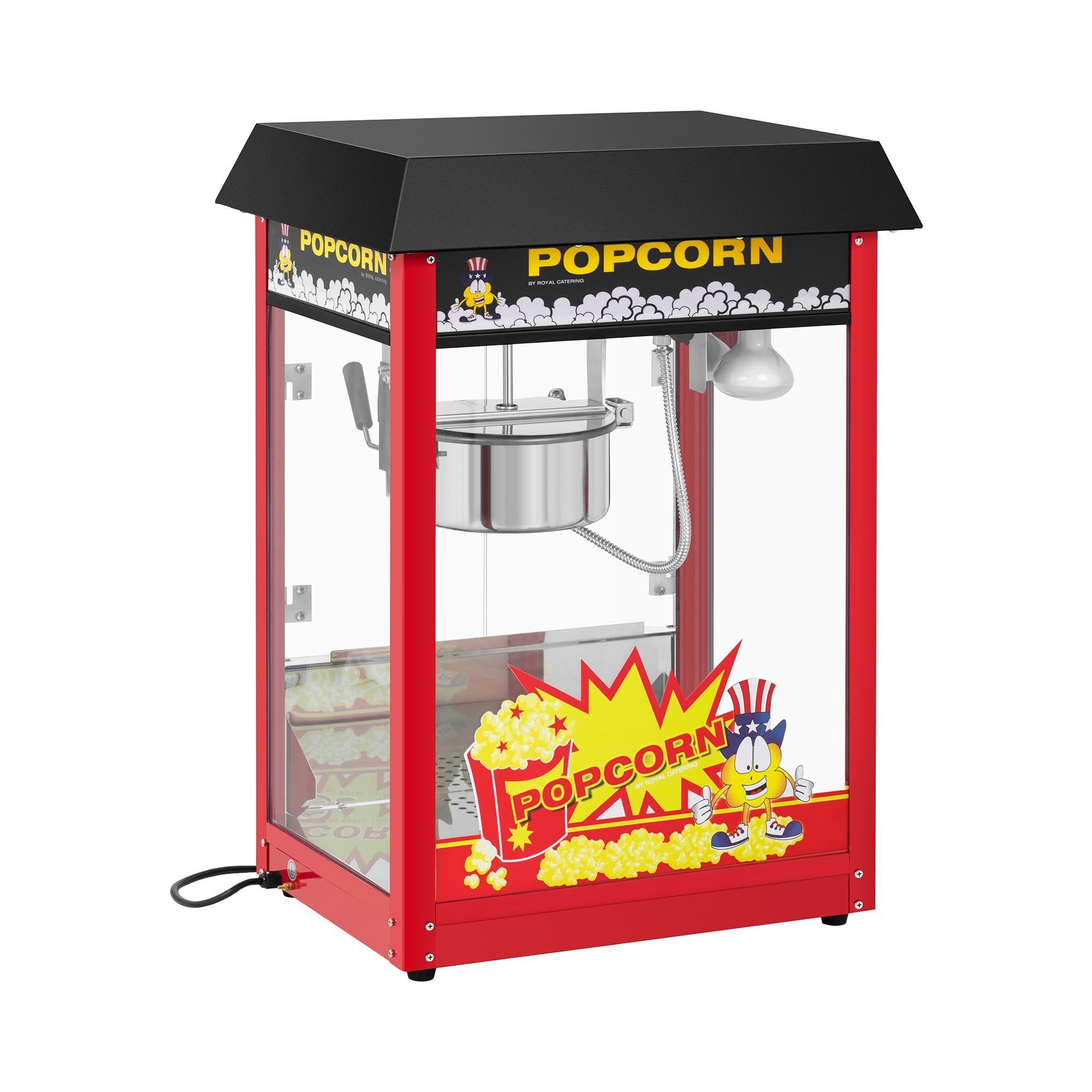 Royal Catering Machine à popcorn - Cycle de préparation de 120 s - Toit noir RCPS-16EB