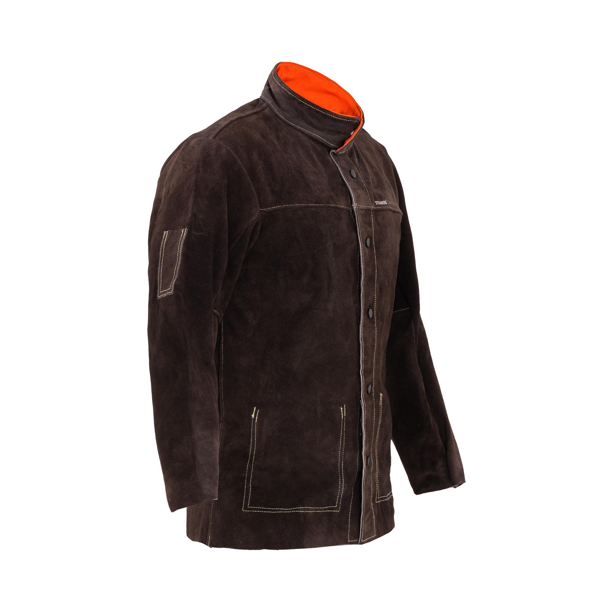 Stamos Welding Group Veste de soudeur en cuir croute de bovin - Taille XL SWJ01XL