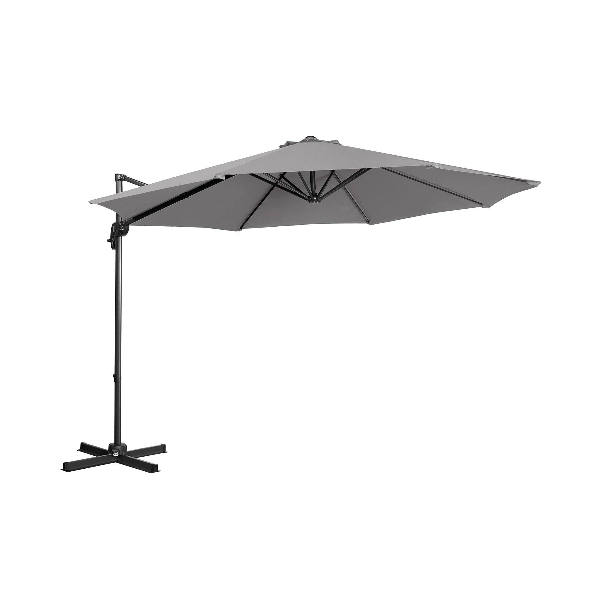 Uniprodo Parasol de jardin - Anthracite - Rond - Ø 300 cm - Pivotant UNI_UMBRELLA_2R300DG