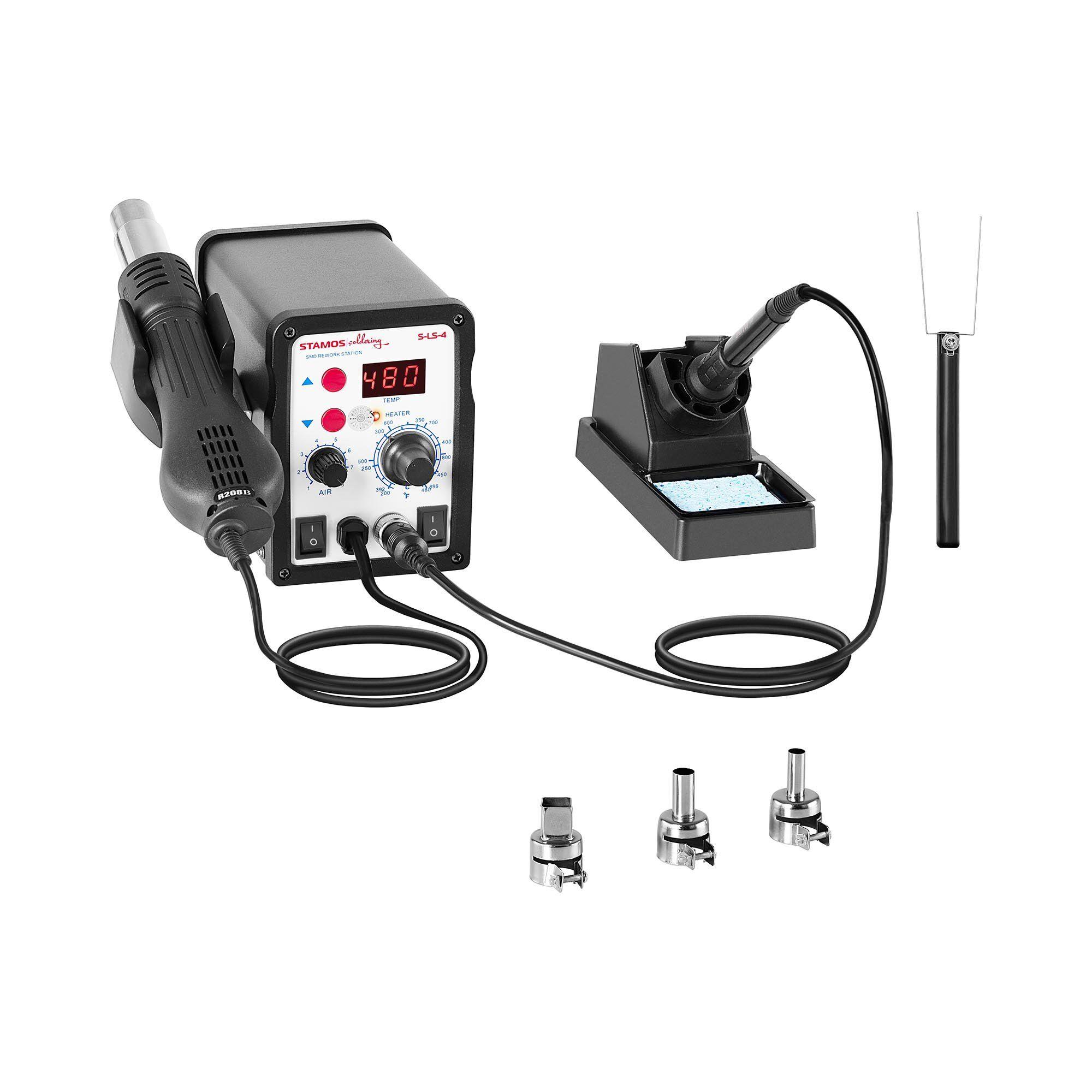 Stamos Soldering Station de soudage numérique - 60 watts - Écran LED - Basic S-LS-4 BASIC