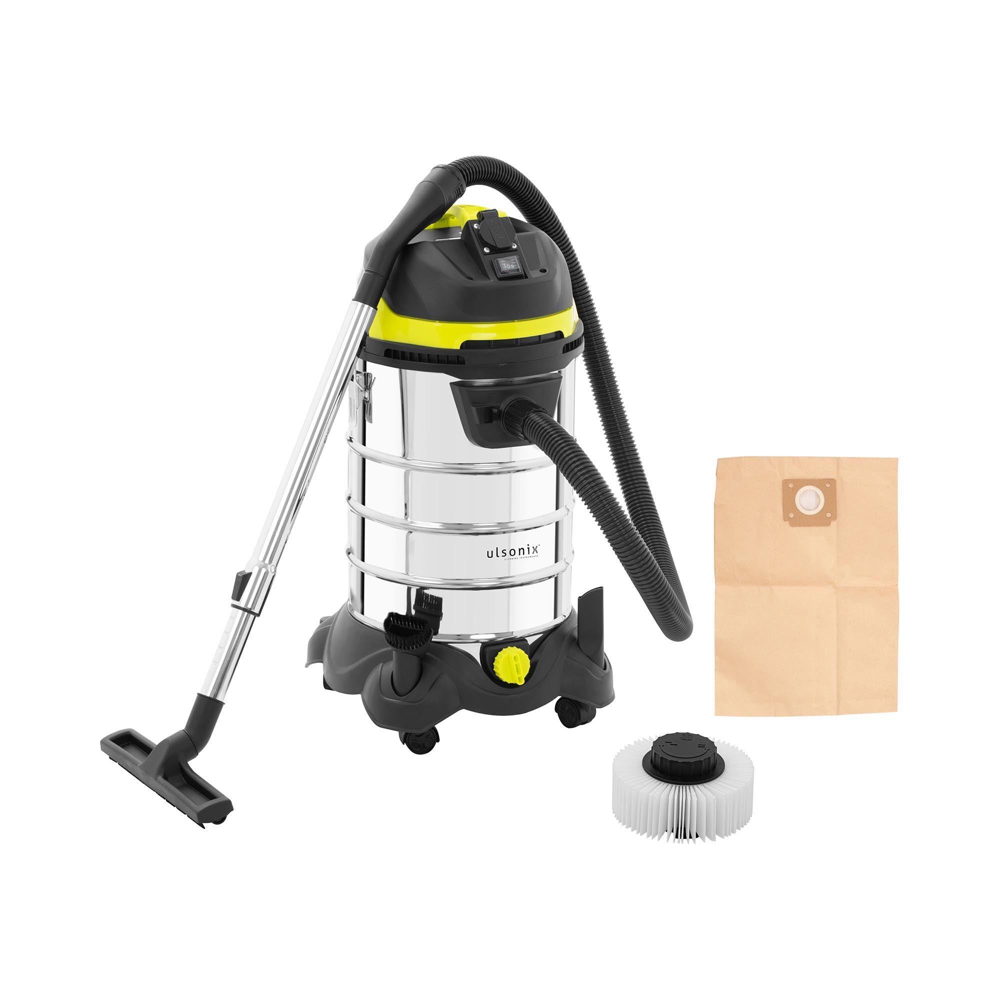 ulsonix Aspirateur eau et poussière - 1 400 W - 30 l - Avec prise électrique FLOORCLEAN 30DS