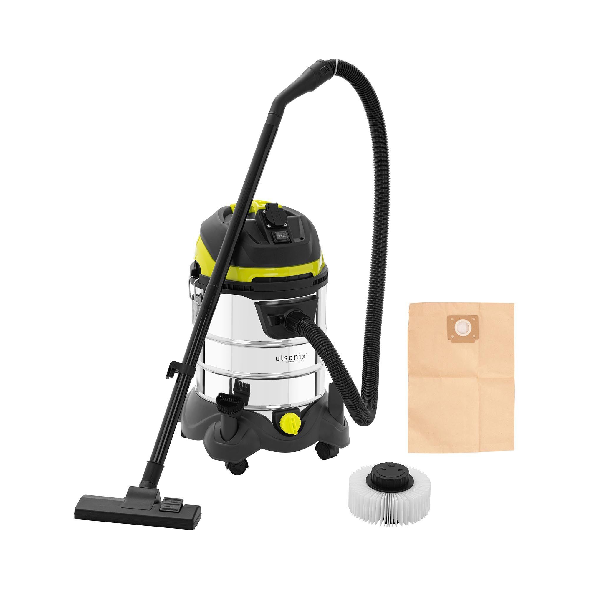 ulsonix Aspirateur eau et poussière - 1 400 W - 25 l - Avec prise électrique FLOORCLEAN 25DS