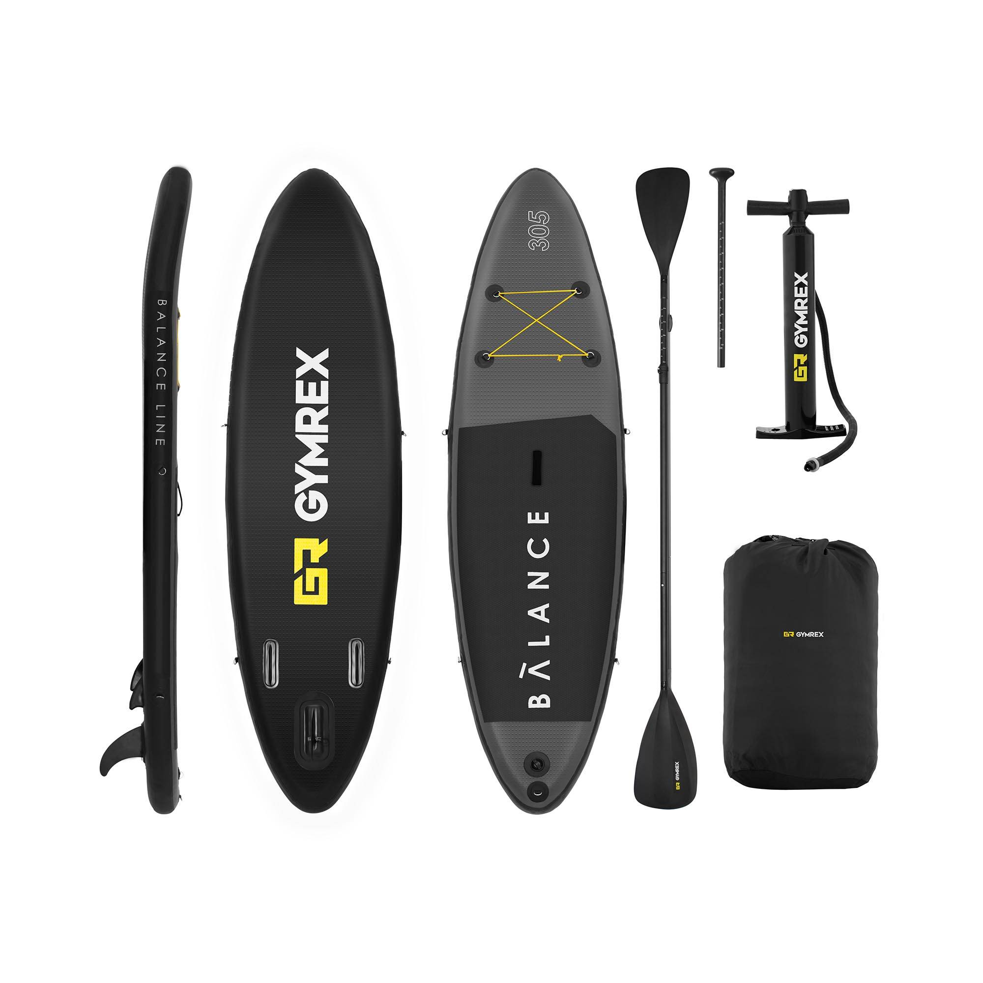 Gymrex Stand up paddle gonflable - 135 kg - 305 x 79 x 15 cm GR-SPB305