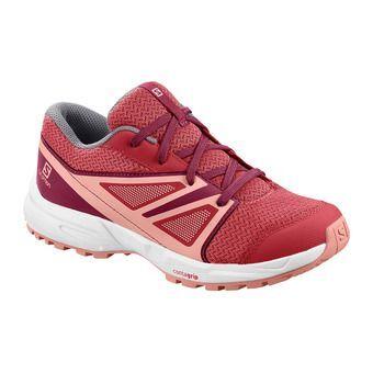 Salomon SENSE - Chaussures randonnée Junior garnet rose/beet red/coral almond
