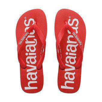 Havaianas TOP LOGOMANIA - Tongs Homme ruby red